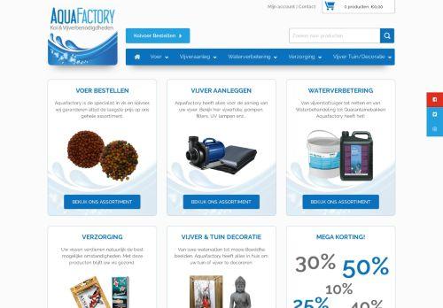 Screenshot van aquafactory.nl