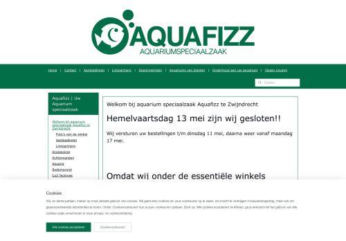 Screenshot van aquafizz.nl