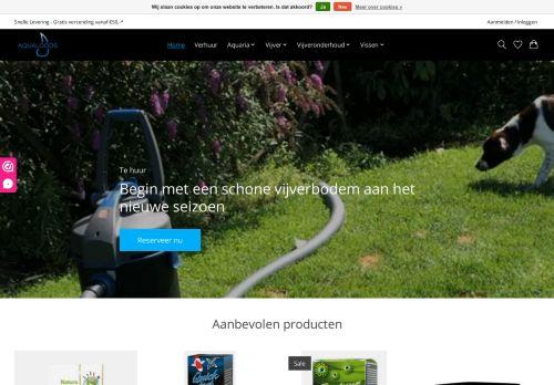 Screenshot van aqualoods.nl