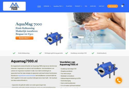 Screenshot van aquamag7000.nl