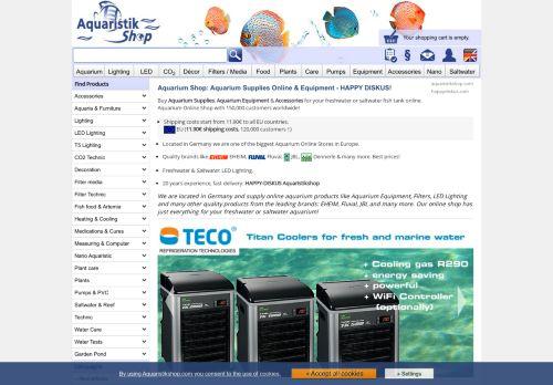 Screenshot van aquaristikshop.com