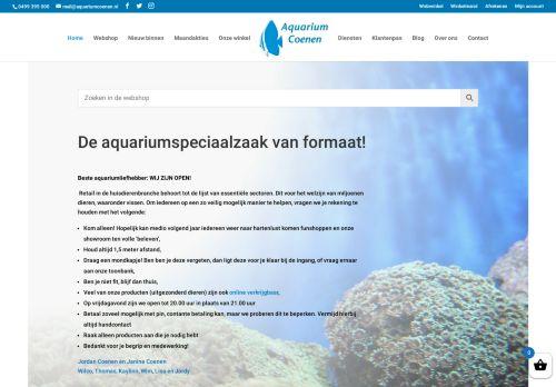 Screenshot van aquariumcoenen.nl