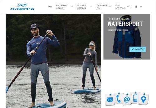 Screenshot van aquasportshop.nl