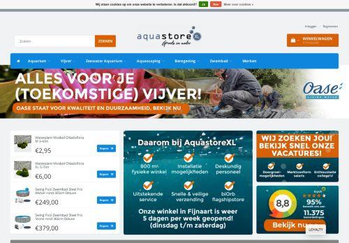 Screenshot van aquastorexl.nl