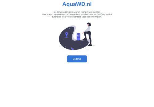 Screenshot van aquawd.nl