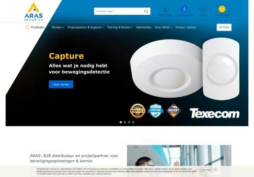 Screenshot van aras.nl