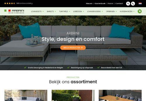 Screenshot van arbrini.nl