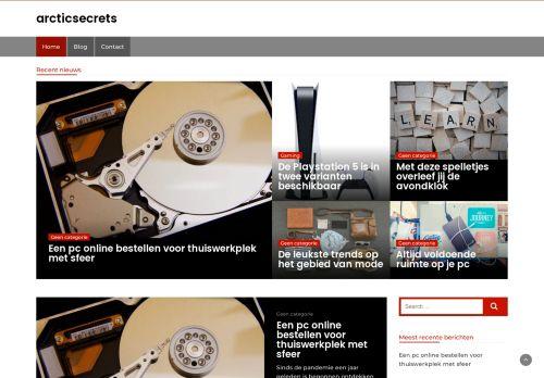 Screenshot van arcticsecrets.nl