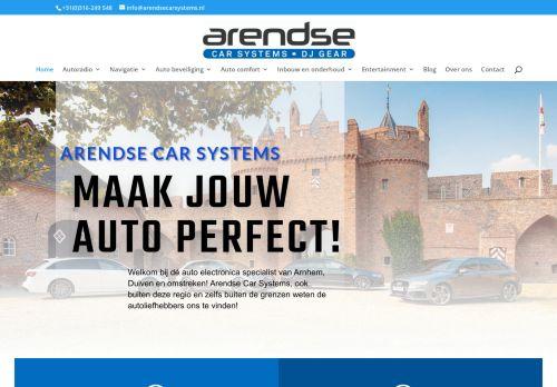 Screenshot van arendsecarsystems.nl