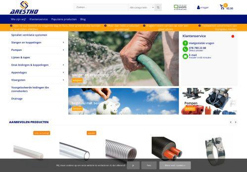 Screenshot van arestho.nl
