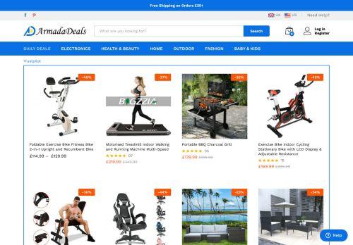 Screenshot van armadadeals.com