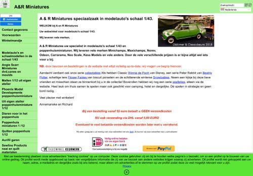 Screenshot van arminiatures.nl