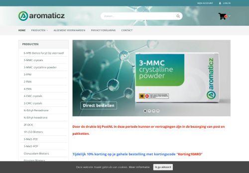 Screenshot van aromaticz.net