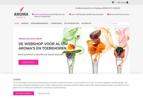 Screenshot van aromaworld.nl