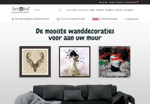 Screenshot van artbol.nl