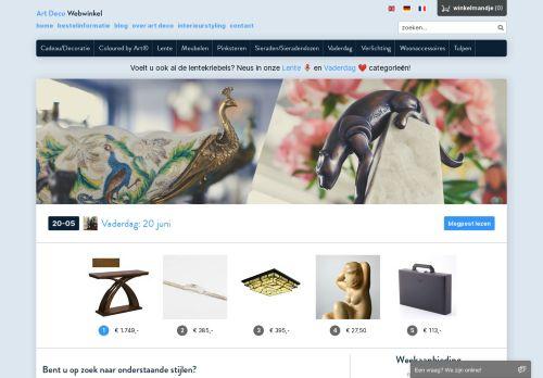 Screenshot van artdecowebwinkel.com