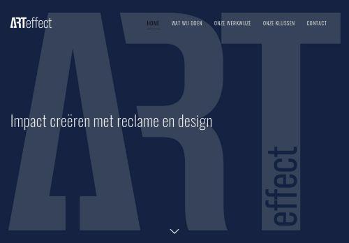 Screenshot van arteffect.nl