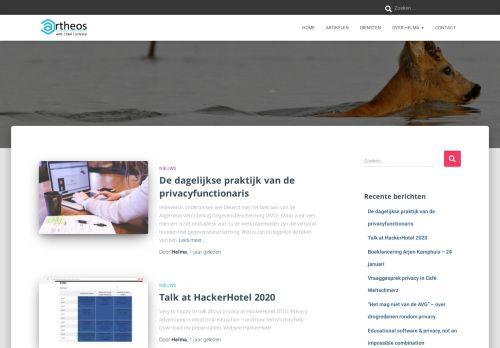 Screenshot van artheos.nl