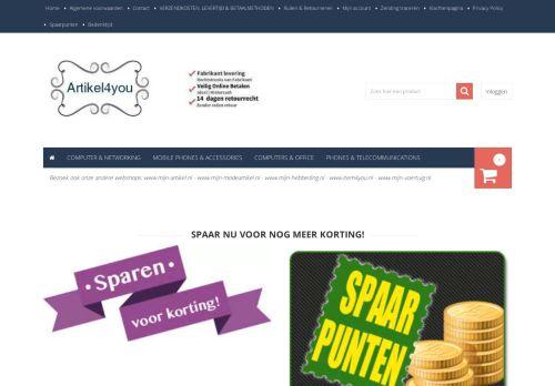 Screenshot van artikel4you.nl