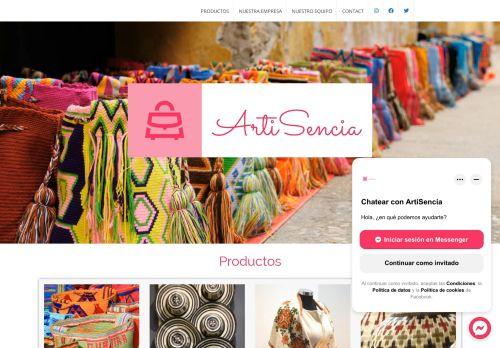 Screenshot van artisencia.eu