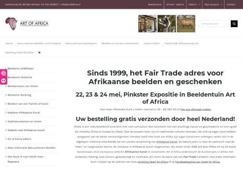 Screenshot van artofafrica.nl