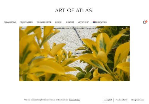 Screenshot van artofatlas.nl