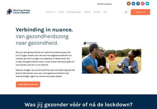 Screenshot van artsencollectief.nl