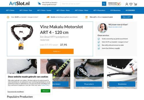 Screenshot van artslot.nl