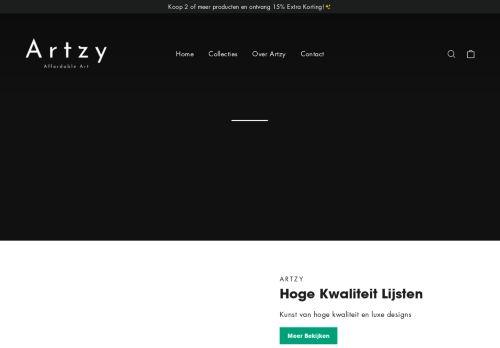 Screenshot van artzy.nl