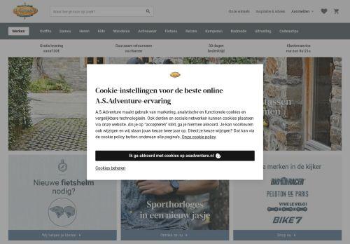 Screenshot van asadventure.nl
