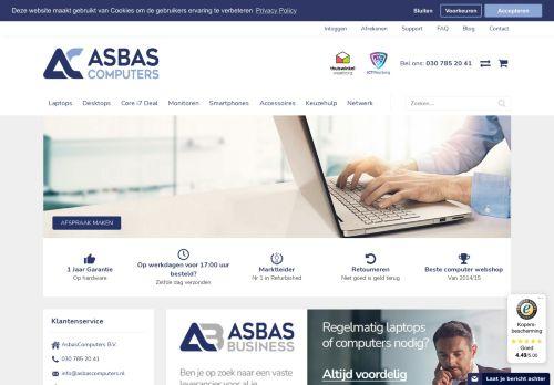 Screenshot van asbascomputers.nl