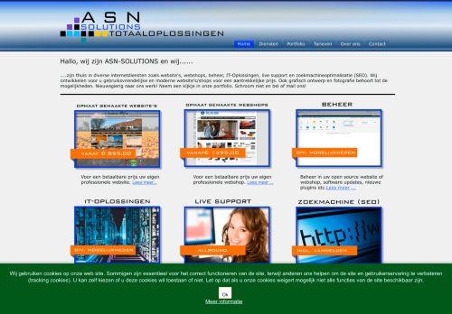 Screenshot van asn-solutions.nl