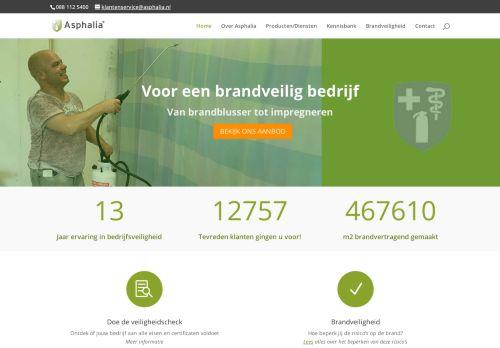 Screenshot van asphalia.nl