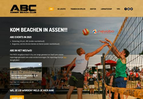 Screenshot van asserbeachclub.nl