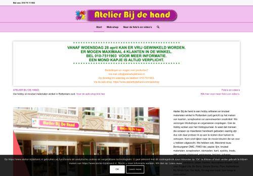 Screenshot van atelier-bijdehand.nl