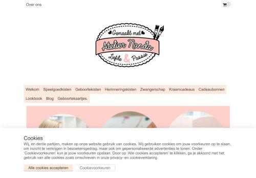 Screenshot van ateliernanda.com