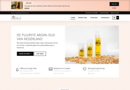 Screenshot van atlasargan.nl