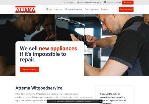 Screenshot van attema-witgoedservice.nl