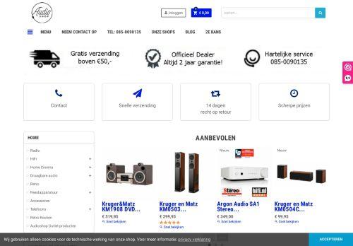 Screenshot van audioshop.nl