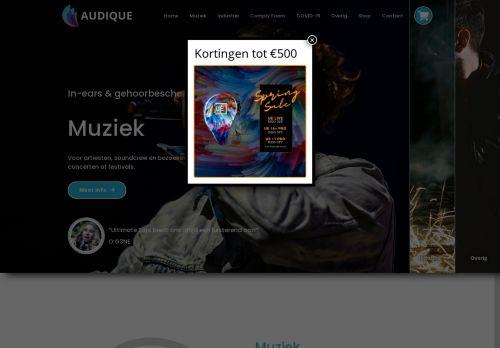 Screenshot van audique.nl