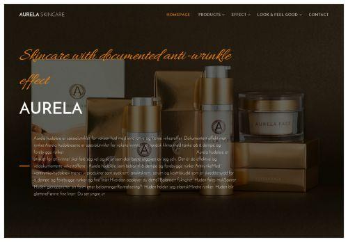Screenshot van aurela.com