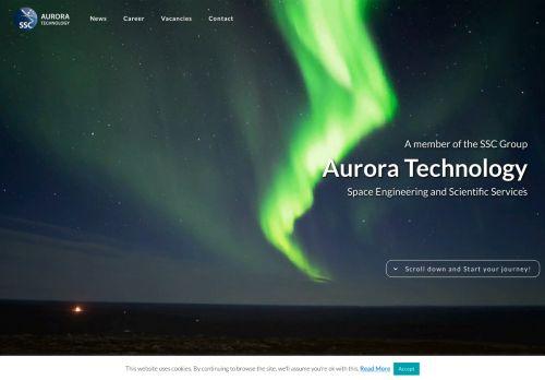 Screenshot van aurora.nl