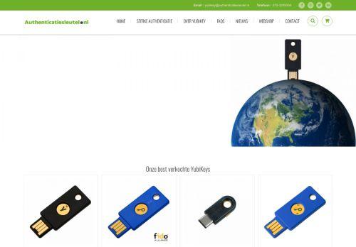 Screenshot van authenticatiesleutel.nl