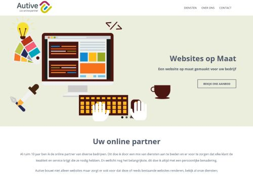 Screenshot van autive.nl