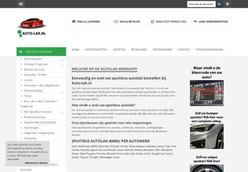 Screenshot van auto-lak.nl