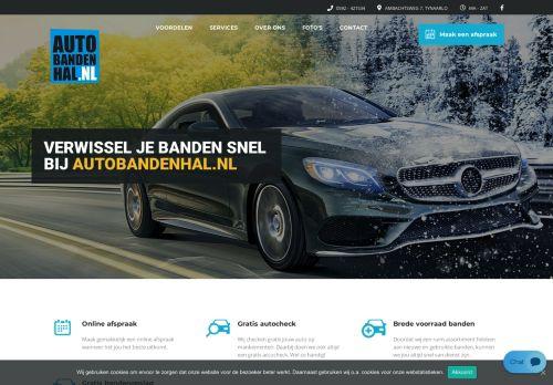 Screenshot van autobandenhal.nl