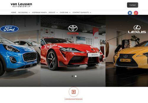 Screenshot van autobedrijfvanleussen.nl