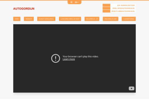 Screenshot van autogordijn.nl