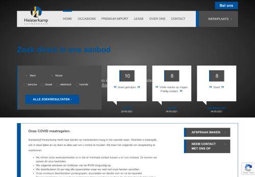Screenshot van autoheisterkamp.nl