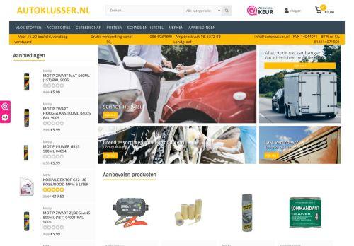 Screenshot van autoklusser.nl